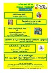 programme des mercredis novembre decembre 2014