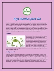 aiya matcha green tea