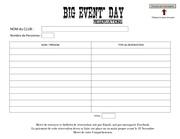 Fichier PDF bulletin de reservation big event day