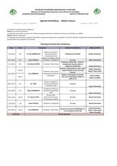 planning des conferences m1