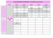calendrier feminin 2015
