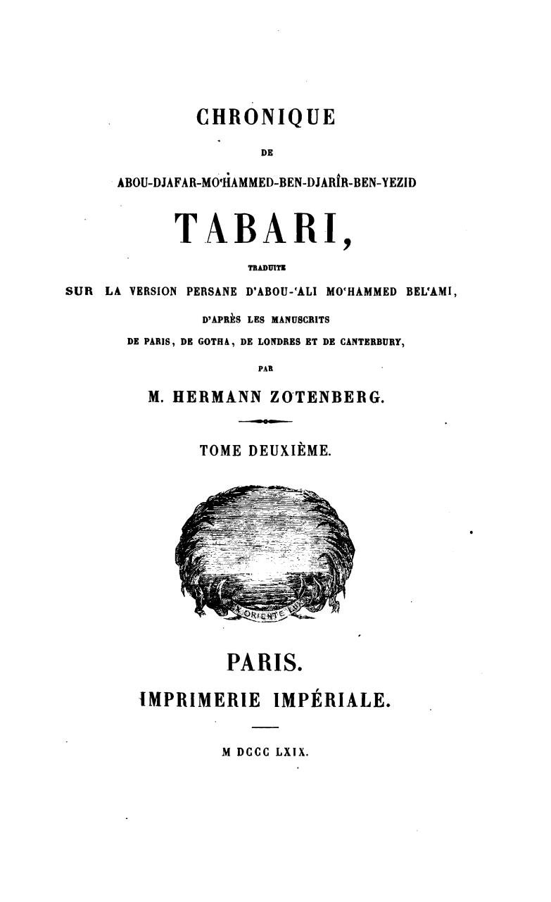 DE TÉLÉCHARGER TABARI GRATUIT CHRONIQUE