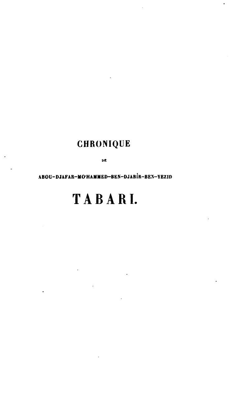 TABARI TÉLÉCHARGER CHRONIQUES DE
