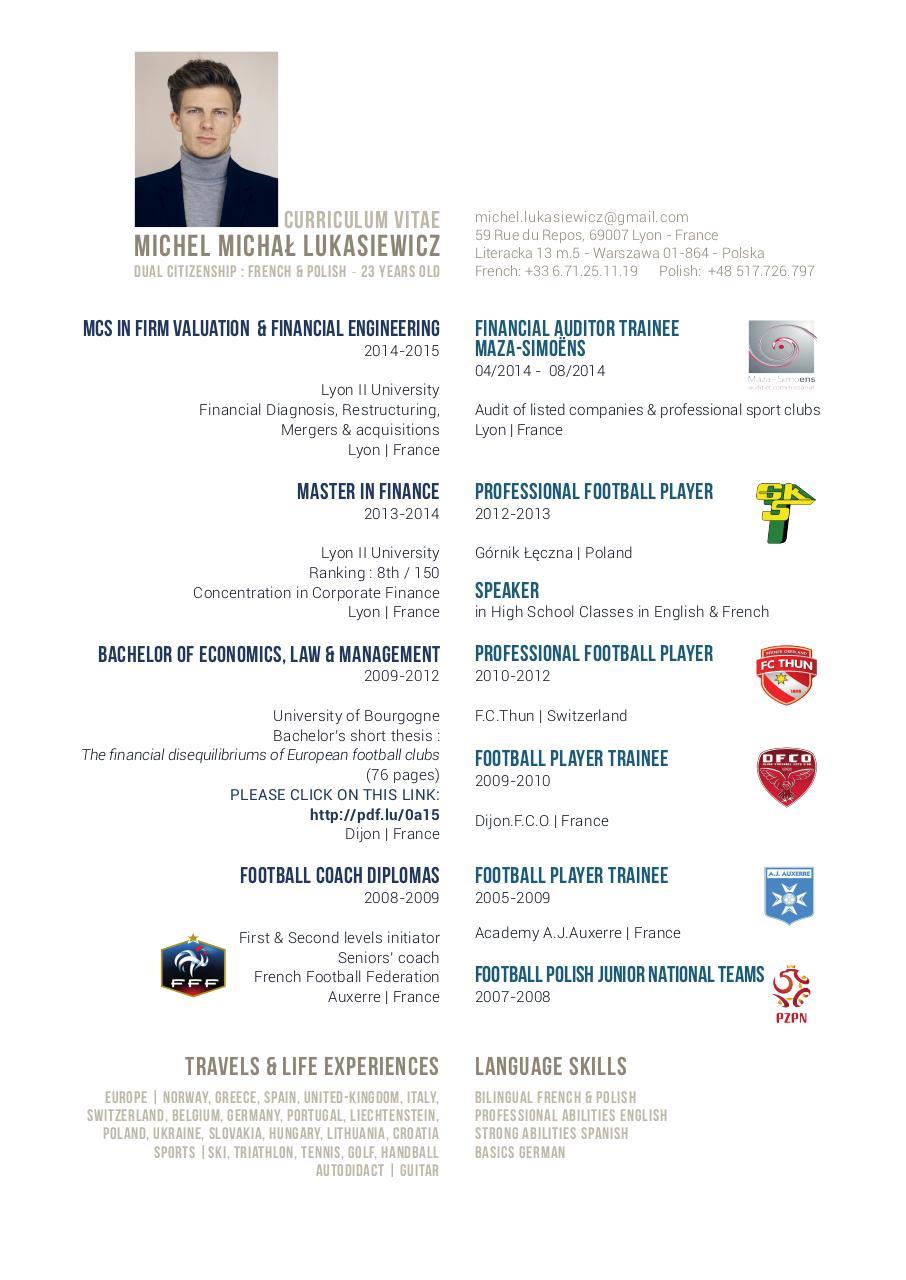 cv michel - cv michel lukasiewicz pdf