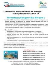 formation biologie fb1 codep 171