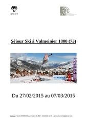 sejour ski a valmeinier 1800