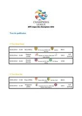 afc ligue des champions 2014
