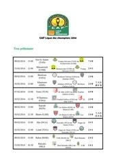 caf ligue des champions 2014