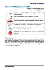 Fichier PDF catalogue des logiciels