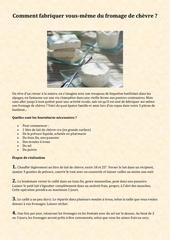 comment fabriquer vous meme du fromage de chevre