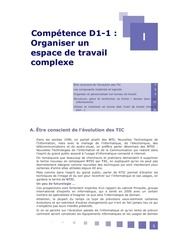 competence d1 1