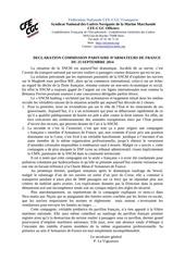 declaration af 25 septembre 2014 1