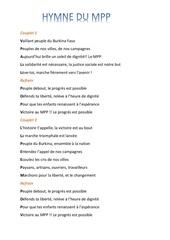 Fichier PDF hymne du mpp