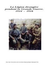 la legion etrangere pendant la grande guerre