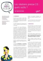 0 afterwork fiche 02 relations presse 2 0