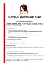 Fichier PDF contrat voyage amsterdam