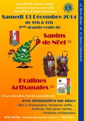 sapins pralines 2014 lc mons colfontaine mons belian 1