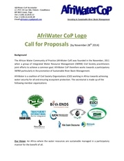 afriwater cop logo call for proposals