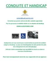 conduite et handicap