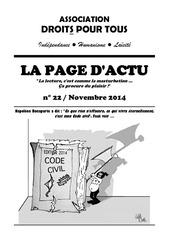 la page d actu novembre 2014 format a5 1