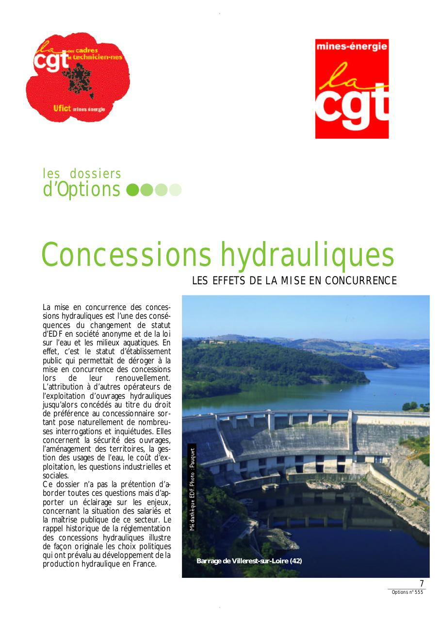 Aperçu du document Dossier Options concessions hydrauliques.pdf - page 1/6