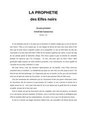 la prophetie des elfes noirs arcane premier partie 01