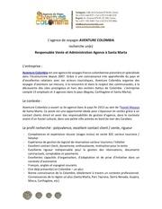 ofertaempleo responsableagenciasmr aventurecolombia nov2014