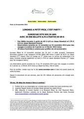 presse eurostar promos 20ans 10 11 2014