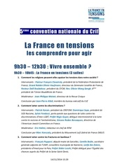 programme convention nationale crif