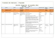 programme de la triennale des habitants edition 2014