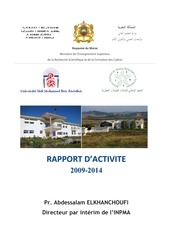 rapport activie inpma 2009 2014oct2014