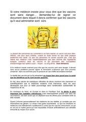 formulaire vaccins