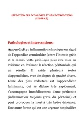 1 viscerale definition des pathologies et interventions
