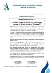141115 stop a la politisation du probleme manifestation