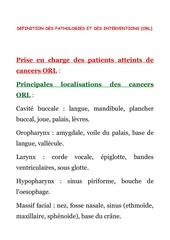 2 orl definition des pathologies et intervention