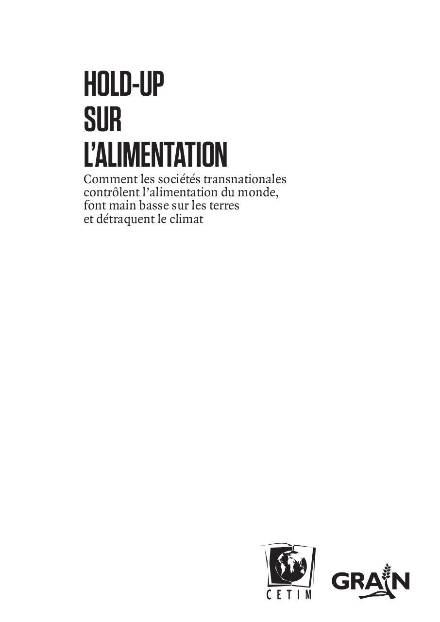 GRAIN - Hold up sur l'alimentation.pdf - page 1/173