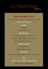menu de groupe le plana cafe 25 00 2014