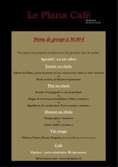 menu de groupe le plana cafe 30 00 2014