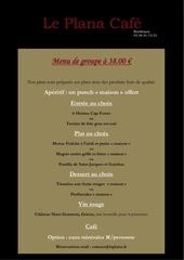 menu de groupe le plana cafe 38 00 2014
