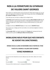 Fichier PDF non a la fermeture du gymnase de villiers saint georges