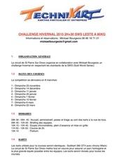 reglement challenge hivernal sws 2015