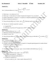 serie derivabilite bac math 1