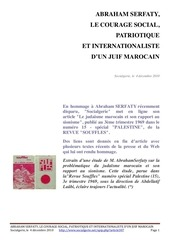 abraham serfaty judaisme marocain et rapport au sionisme souffles 1969 n 15
