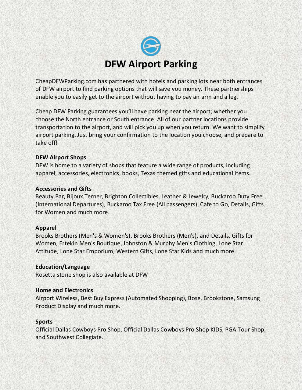 DFW Airport Parking.pdf - page 1/3
