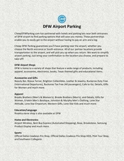 dfw airport parking
