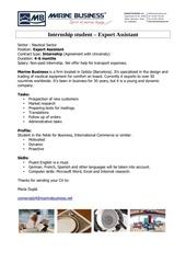 export assistant marine business