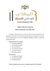 fnv compte rendu du bn du 15 novembre 2014
