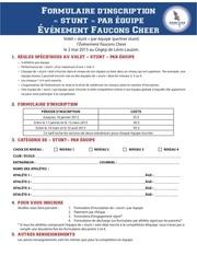 Fichier PDF formulaire d inscription stunt par equipe
