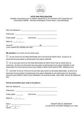 formulaire de vote par procuration