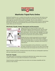 manfrotto tripod parts online